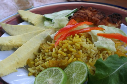 Suncooked BreadFruit and Rice
